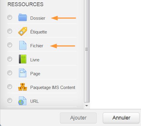 Type de ressources